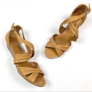 Cole Haan Nike Air | Strappy Tan Wedge Sandals 7.5